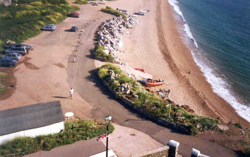 View of the Beach showing the launch ramp