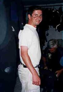 Jon Philip inside the dive school