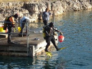 diving at Cromhall