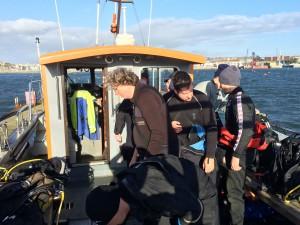 SCUBA diving shipmates