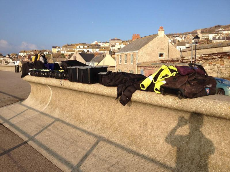 Chesil Diving - Getting ready!