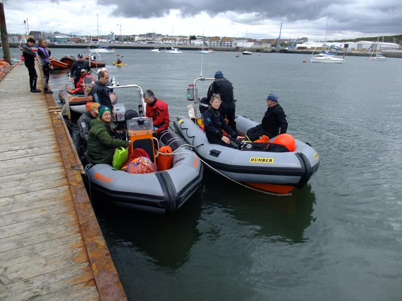 The Club boats getting ready at Mountbatten pontoon