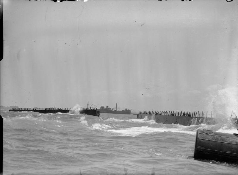 Bombardon units off the D-Day beaches