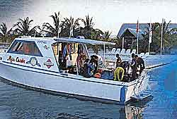 The dive boat that we used