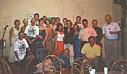 Julie(the wife), Tony, Mary , Frank, Me, Fiona, John, Nicky, Don, Martin, Joe, J.C., Abel, Kye, Ian, Carlos, Ray, Chris and Paul (Andy, Pecky and Penny are Missing)