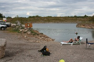 Warmer times at Cromhall - with the tide out!