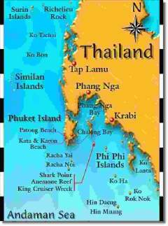 Dive Sites of Thailand (from Phuket)
