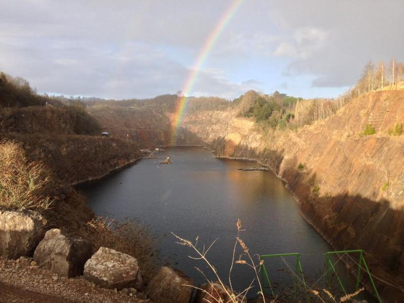 chepstow diving - double rainbow